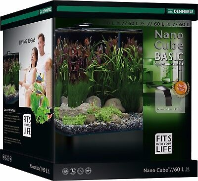 Dennerle Nano Cube 60L Basic Complete Panorama Aquarium Tank with Light & Filter