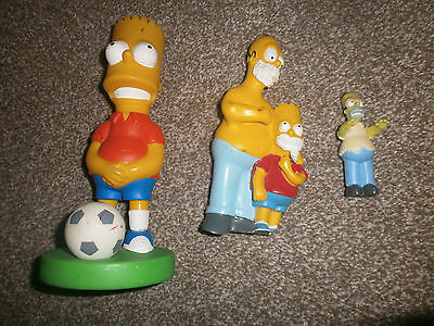 Simpson collection of 3 plastic figures - bart - homer - burger king