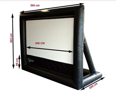 3 metre Outdoor Movie Screen for backyard home cinema. Quality inflatable screen