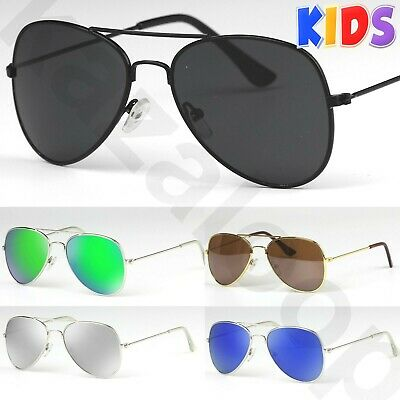Children Kids Aviator Pilot Trendy Sunglasses for Boys Girls UV400 CE certified