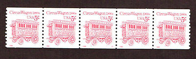2452D Circus Wagon 1900s MNH OG Issued 1995         Strip   5x5c