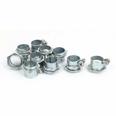 10pcs Metal Pipe Hose Clamp Clips Fastener for 16mm Dia Tube
