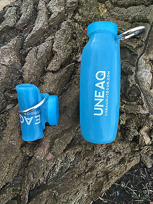 Uneaq Bottle, Heatable, Collapsible, 22 oz, In Blue Or Smoke