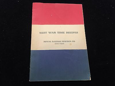 Vintage 1918 Royal Baking Powder Co. Best War Time Recipes New York