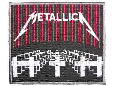 """METALLICA Heavy Metal Embroidered Iron On Shirt Badge Patch 3.4"""""""