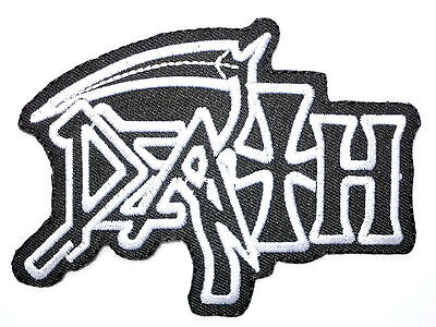 """DEATH Logo Iron On Sew On Heavy Metal Shirt Applique Badge Patch 4.1""""x3"""""""