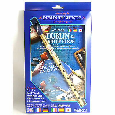 Irish Brass Dublin Tin Whistle - CD Pack (with CD included)