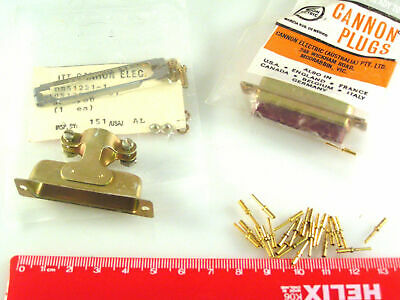 ITT Cannon DBC25P D Type 25 Way Connector Plus Pins and Clamp OM0510S