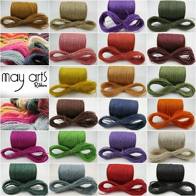 May Arts Jute Burlap String Twine, 5,10 & 20mts - 21 Colours - Multi Buy Saving