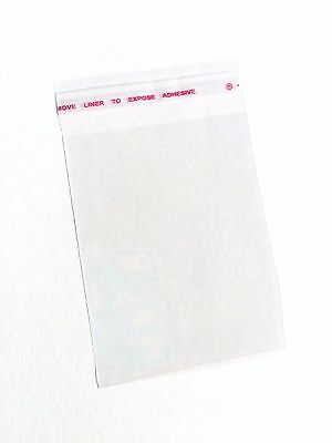 100 Plastic Self Adhesive Seal Clear Jewelry Beads Packing Bags Packaging USA