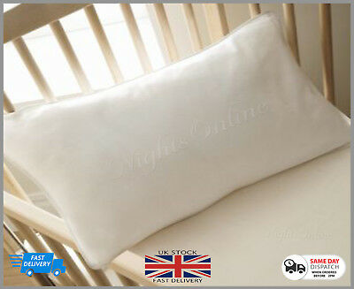 Cot Bed Pillow, Anti-Allergy, Soft, Kids, Baby, Toddler, Junior Pillow