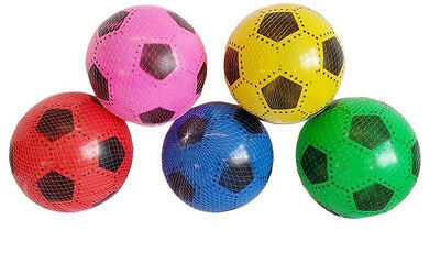 Plastic Pvc Footballs Flat Packed Uninflated With Net Special Offer Job Lot