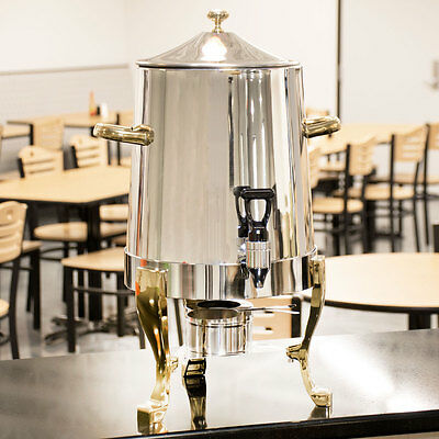 3 Gallon Choice Deluxe Stainless Steel Coffee Chafer Urn with Gold Accents