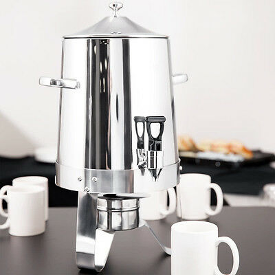 3 Gallon 48 Cup Choice Stainless Steel Round Silver Coffee Chafer Urn