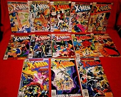 Uncanny Xmen 109 110 111 112 114 115 116 118 119 120 123 124 Weapon Alpha Flight
