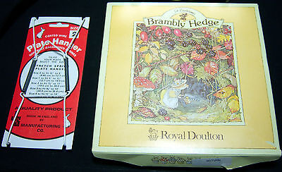 Royal Doulton Jill Barklem Brambly Hedge 8 inch plate - Autumn- New in the Box