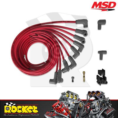 MSD Super Conductor Ignition Leads Universal V8 RED - MSD31229