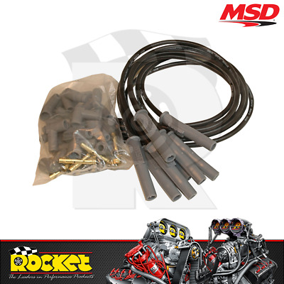 MSD Super Conductor Ignition Leads Universal V8 BLACK - MSD31193