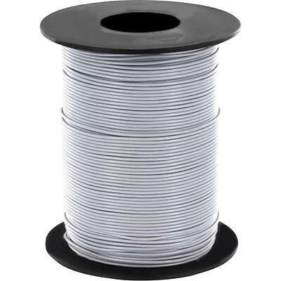 100 Meter Stranded wire Gray 0,14mm² Copper stranded wire LIY Cable on a reel