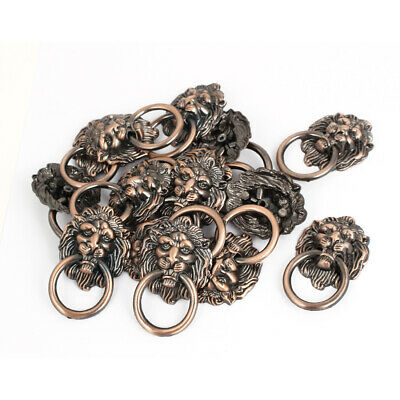 Vintage Style Dresser Drawer Cabinet Door Lion Head Ring Pull Handle 15 Pcs