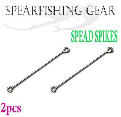 2x Spearfishing Speed Spike 270mm Stainless Steel Float Line Spear Scuba Diving