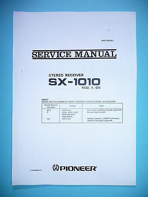 Service manual manual for Pioneer SX-1010