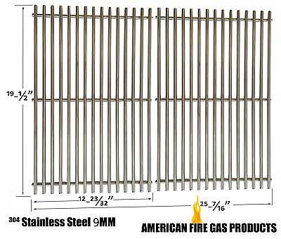 9MM Weber 7528 Stainless Steel Cooking Grates For Weber Genesis E and S series