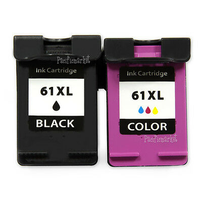 2x Ink Cartridges for HP 61 XL Envy 4500 4504 5530 Officejet 2620 4630 printer