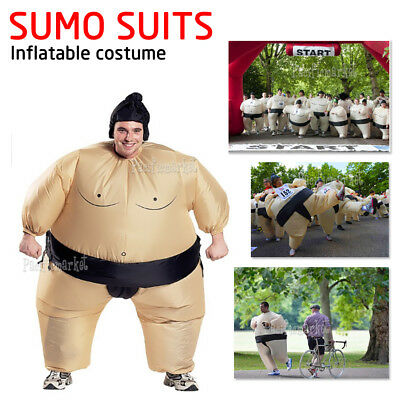 SUMO Fancy Dress Fan Inflatable Suit Xmas Party Costume With Hat Funny Wrestling