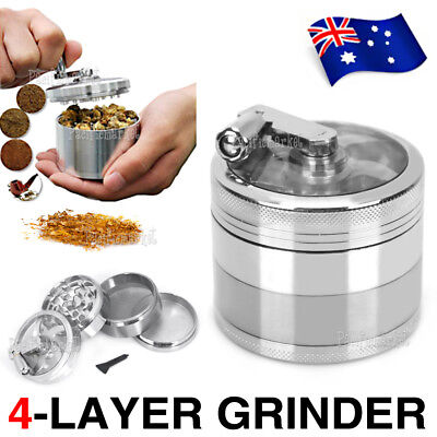 Smoke Grinder Herb Aluminum Hand Crank Herbal Tobacco Grinders Muller 4-layer