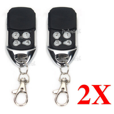 2 x Remote Control Compatible For ATA PTX-4 SecuraCode Garage Door Replacement