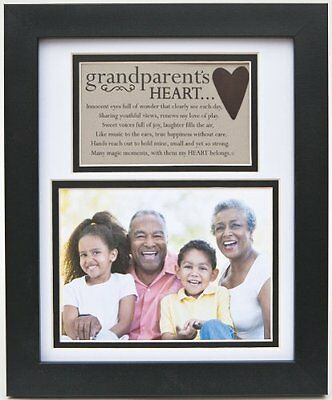 The Grandparent Gift Frame Wall Decor, Grandparent's Heart, New, Free Shipping
