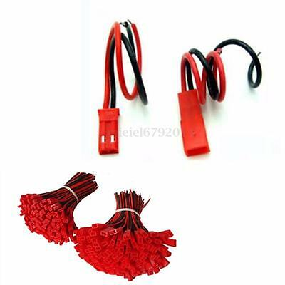 10 Pairs 2 Pin JST Plug Socket Connector Cable Red Black Wire M to F 110mm leads