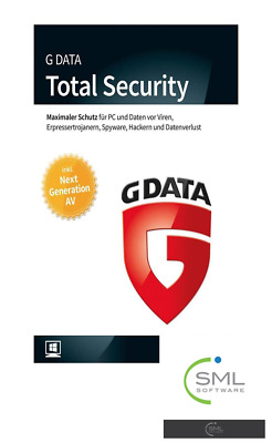G Data Total Security - 1 PC - 1 Jahr - DE/EN/FR + Multilingual - NEU (2018)