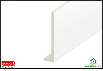 Fascia Boards 9mm 5M Length UPVC Eurocell Capping Boards White Various Sizes
