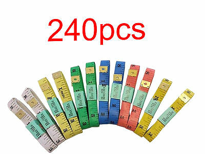 240pocs SEWING TAILOR SOFT FLAT FABRIC TAPE MEASURE WHOLESALE LENGTH 150 CM 60""