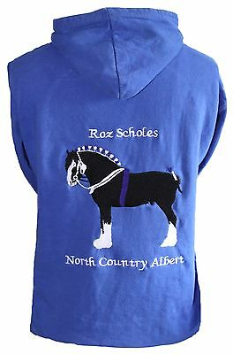 Personalised embroidered shire horse hoodie