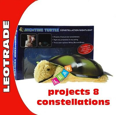 Turtle-shaped star projector night lamp 3 light colours