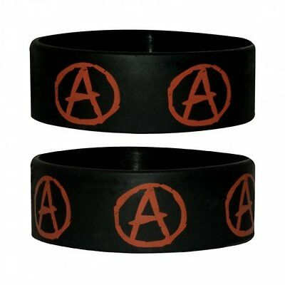 Anarchy Symbol Rubber Wristband Top Quality 100% Official New