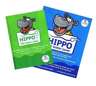 Hippo 7 9 Litre Toilet Cistern Water Saving, Energy & Saving Reduce Bills