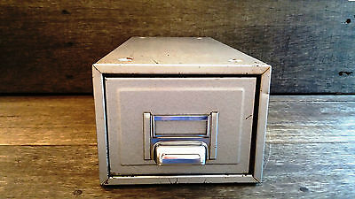Rough Luxe Vintage 20th Cent. Grey Industrial Metal Filing Drawer/Cabinet/Store