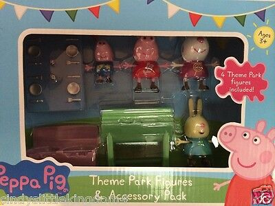 New Peppa Pig Theme Park Figures & Accessory Pack with BBQ & Picnic Bench Age 3+
