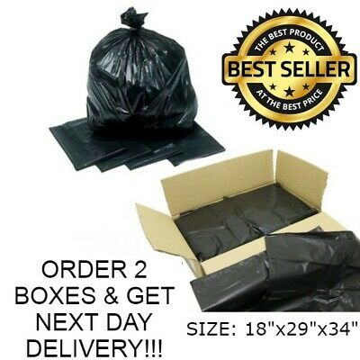 Black Extra Heavy Duty Refuse Bags Sacks Bin Liners Rubbish Bag Uk 200G Quality