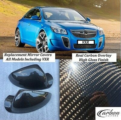 Vauxhall/Opel Insignia Real Carbon Fibre Wing Mirrors Covers VXR OPC CDTI -UK-