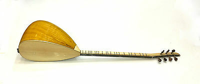 Turkish Professional Long Neck Mulberry Baglama Saz For Sale