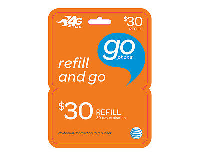 AT&T GoPhone $30 Refill