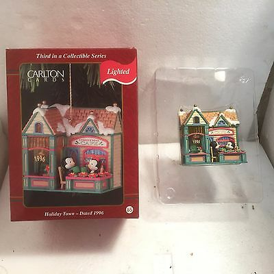 Carlton Cards Holiday Town  Christmas Ornament 1996 Nib