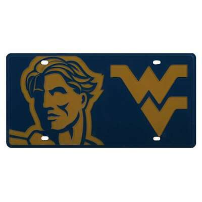 West Virginia Mountaineers Full Color Mega Inlay License Plate