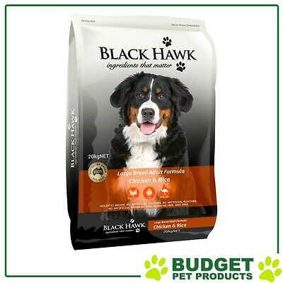 Black Hawk Holistic K9 Dry Chicken And Rice For Large Breed Adult Dogs 20kg