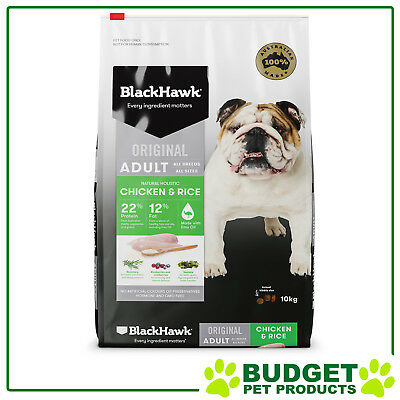 Black Hawk Holistic K9 Dry Chicken And Rice For Adult Dogs 10kg